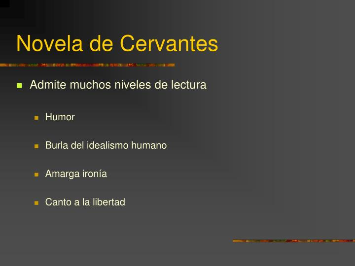 Novela de Cervantes