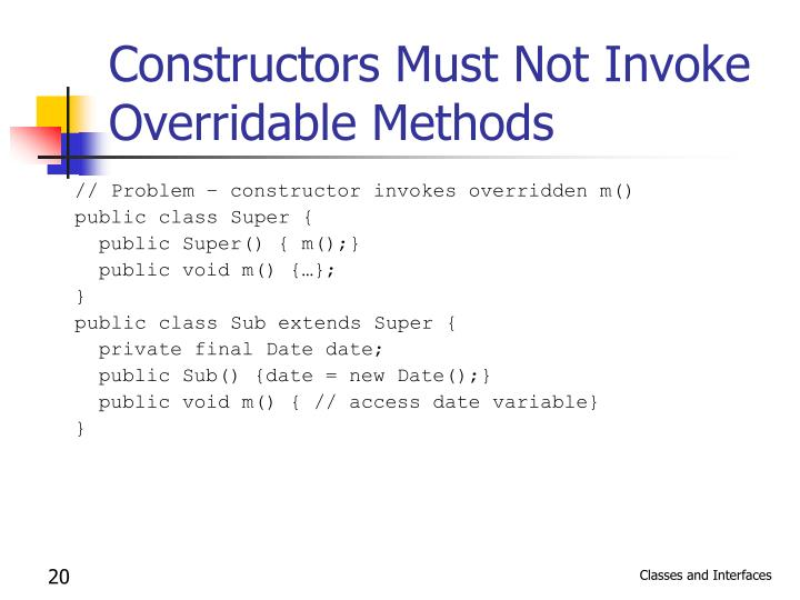 Constructors Must Not Invoke Overridable Methods