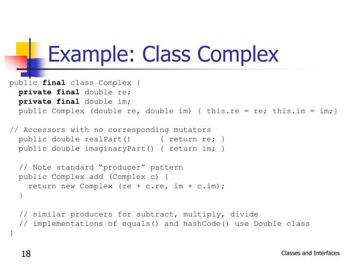 Example: Class Complex