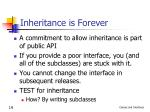 inheritance is forever