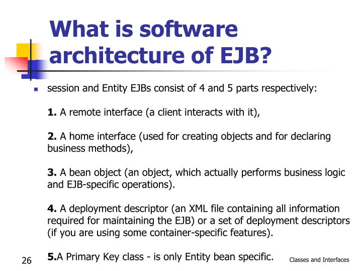 What is software architecture of EJB?