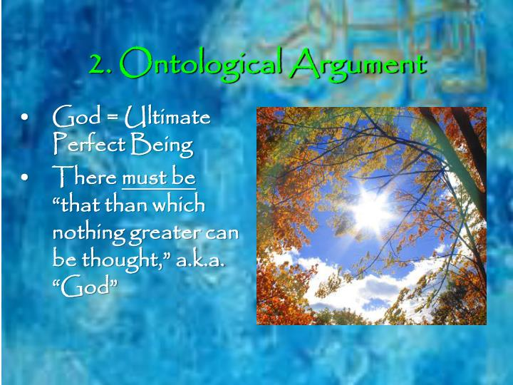 2. Ontological Argument