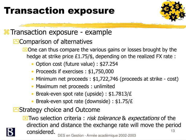 Transaction exposure