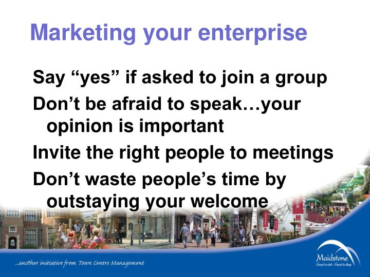 Marketing your enterprise