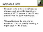 increased cost1