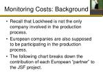 monitoring costs background