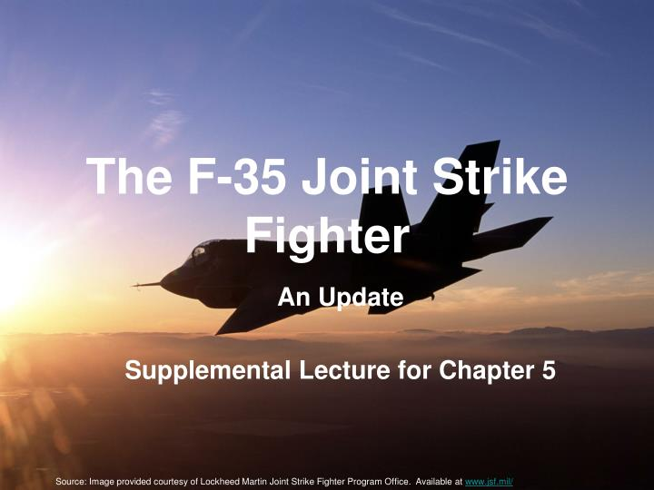 The f 35 joint strike fighter