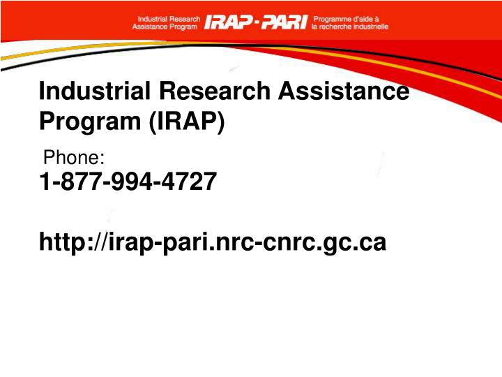 Industrial Research Assistance Program (IRAP)