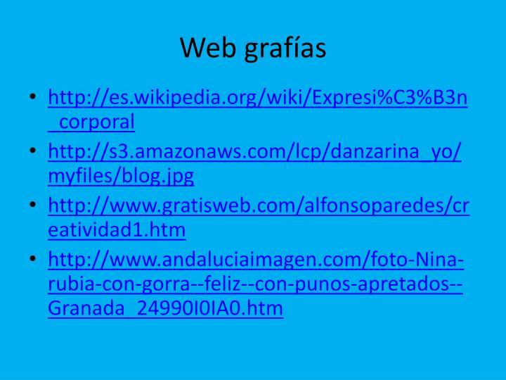 Web grafías