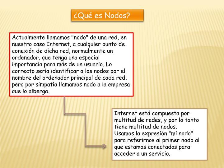 ¿Qué es Nodos?