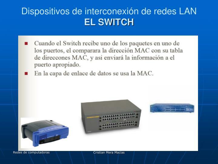 Dispositivos de interconexión de redes LAN
