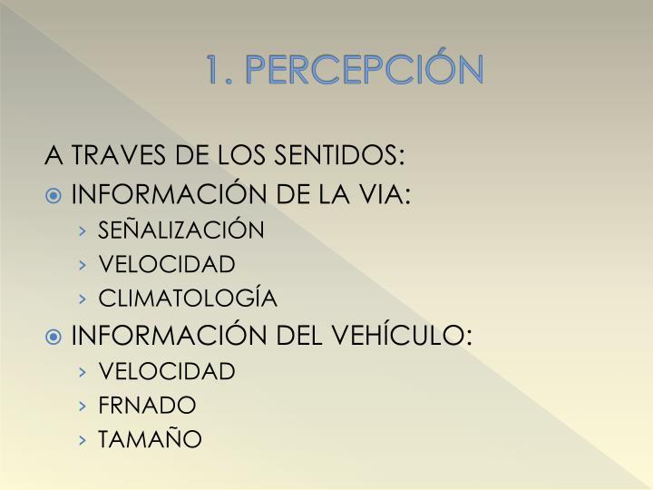 1. PERCEPCIÓN