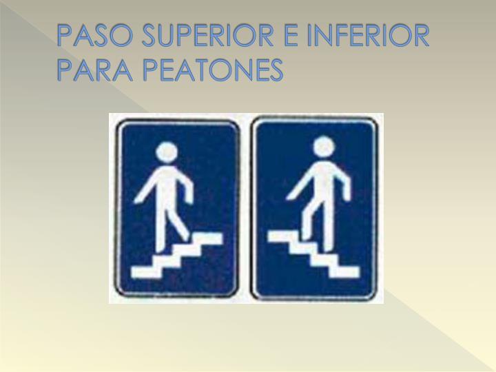 PASO SUPERIOR E INFERIOR PARA PEATONES