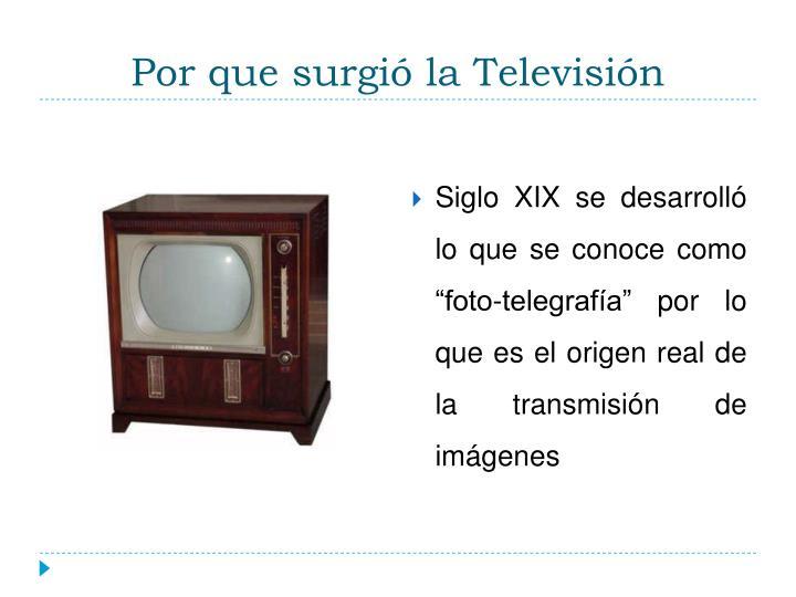 Por que surgió la Televisión