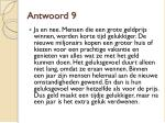 antwoord 9