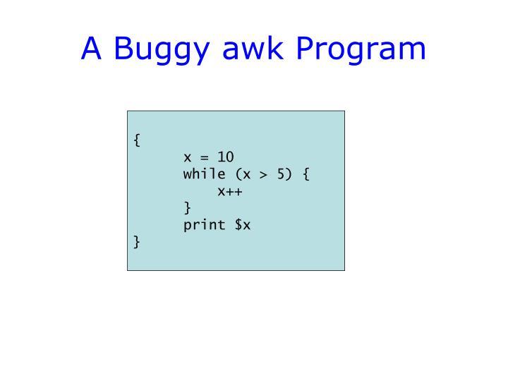 A Buggy awk Program