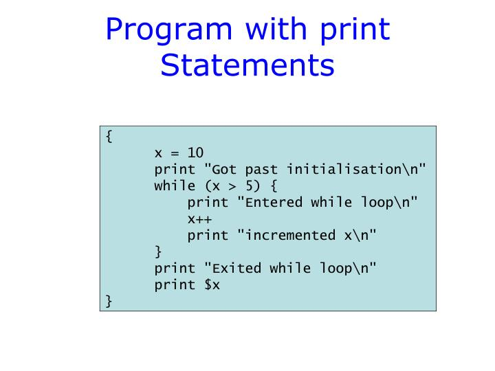 Program with print Statements