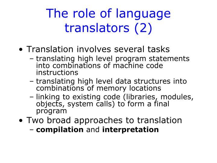The role of language translators (2)