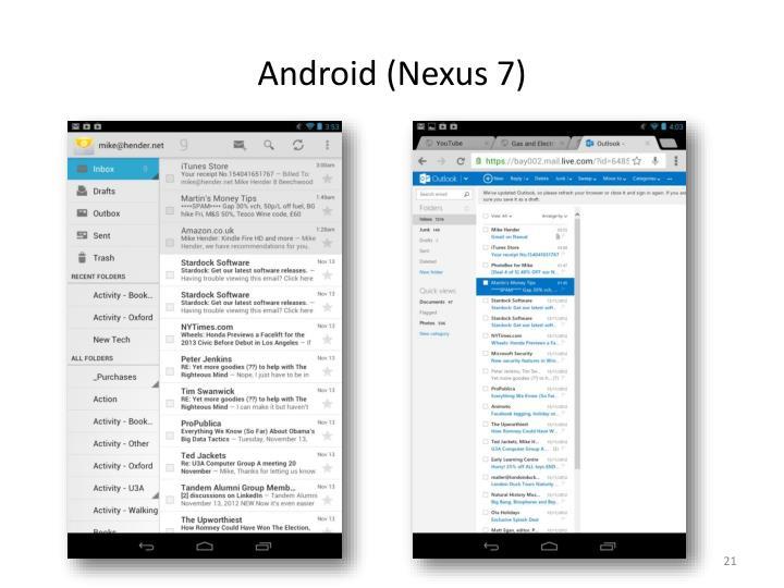 Android (Nexus 7)