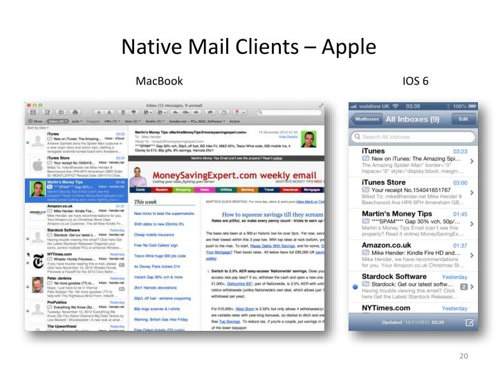 Native Mail Clients – Apple