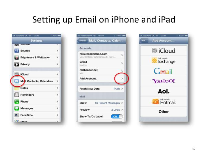 Setting up Email on iPhone and iPad