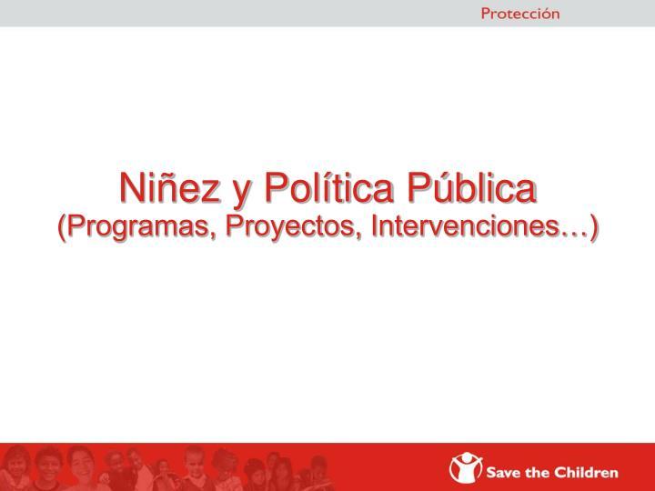 Niñez y Política Pública