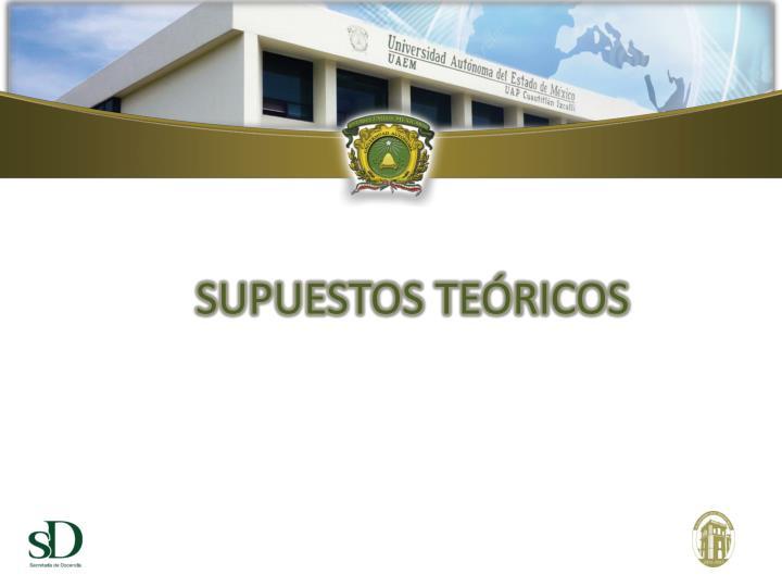 SUPUESTOS TEÓRICOS