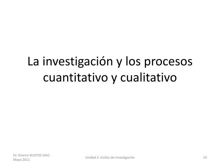 La investigación y los procesos