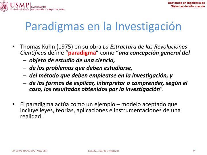 Paradigmas en la Investigación