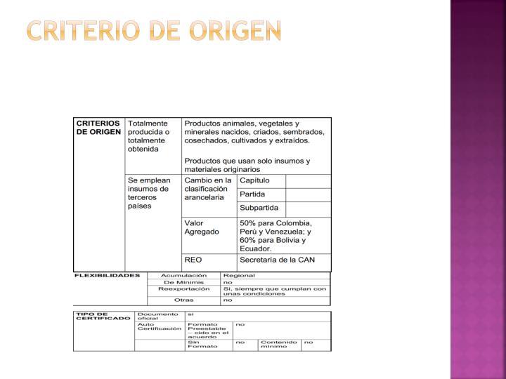 Criterio de origen