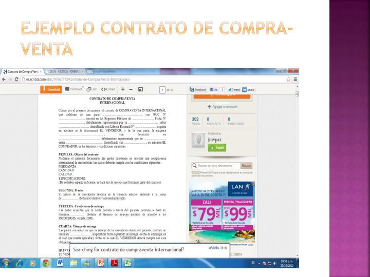 Ejemplo Contrato de compra-venta