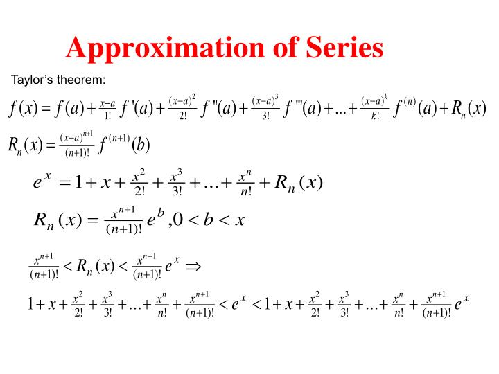 Approximation of Series