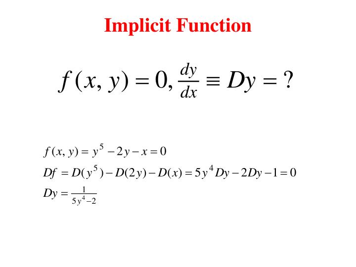 Implicit Function