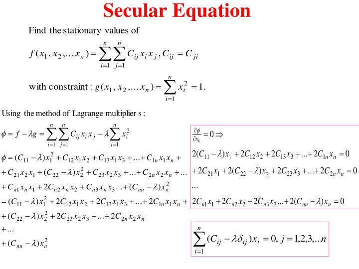Secular Equation