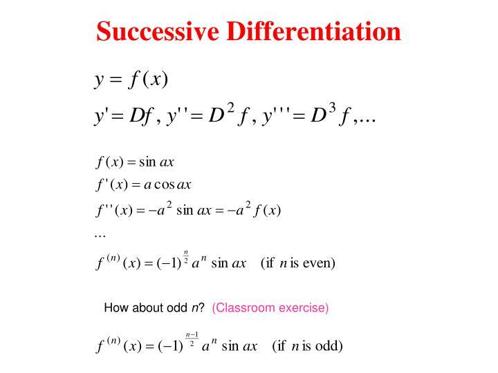 Successive Differentiation