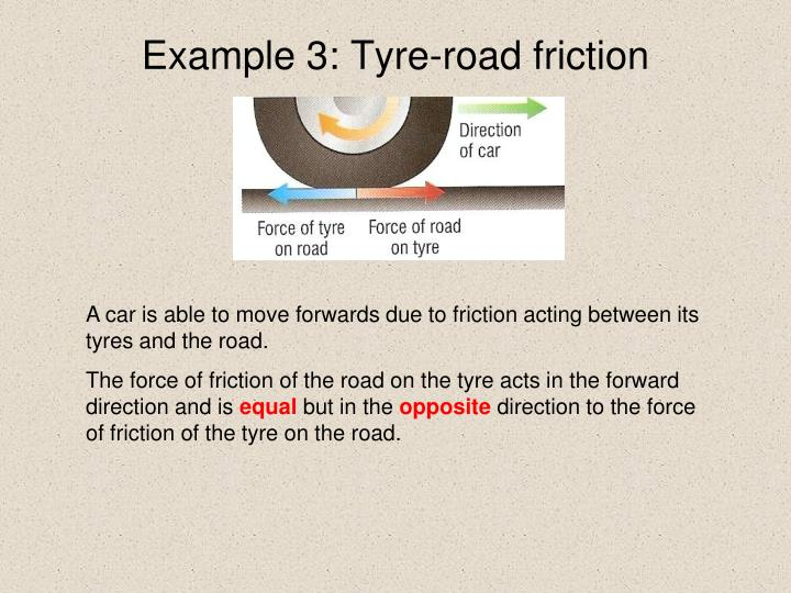Example 3: Tyre-road friction