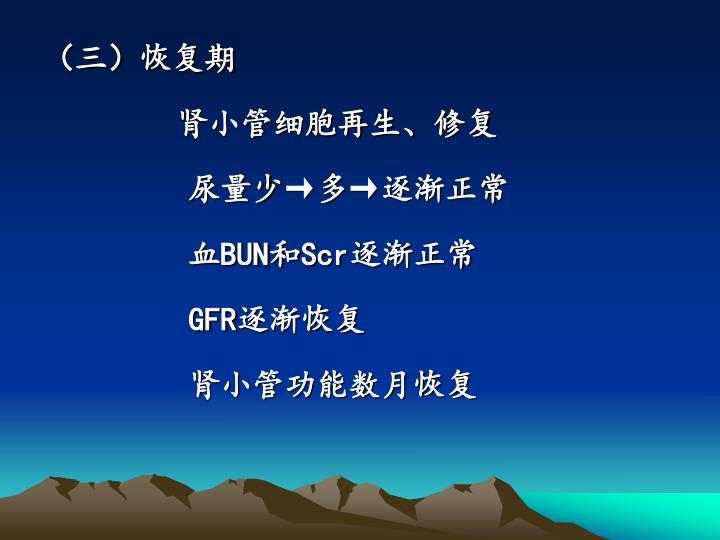(三)恢复期