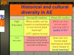 historical and cultural diversity in ae1