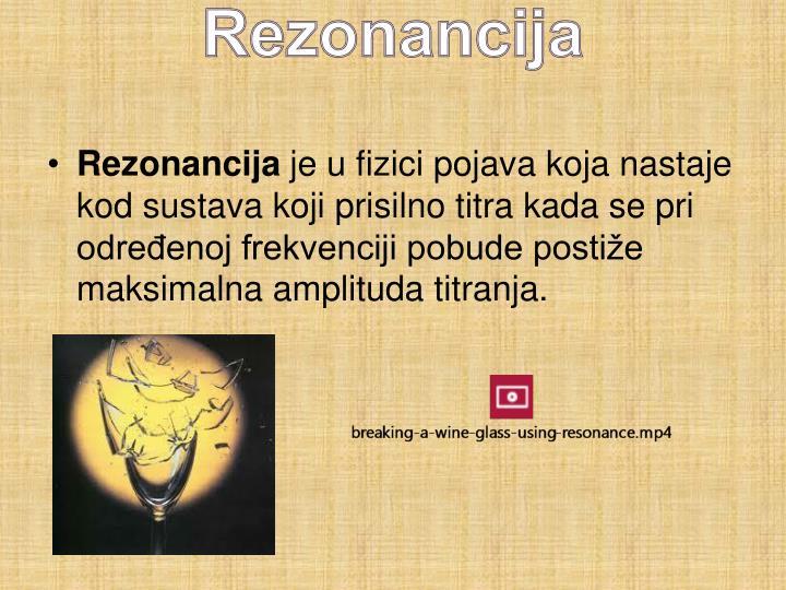 Rezonancija