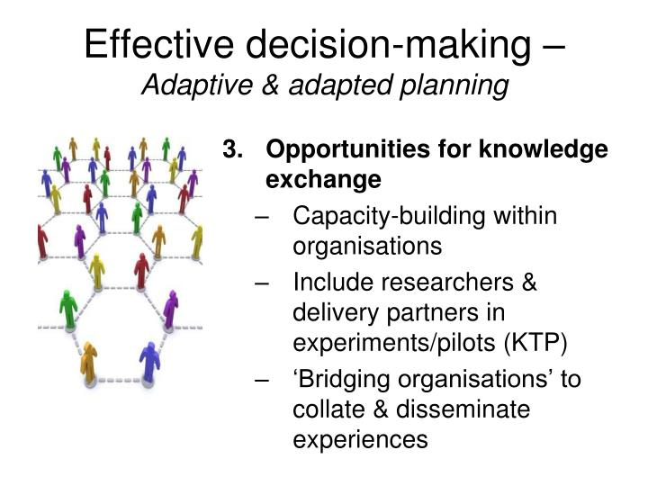Effective decision-making –
