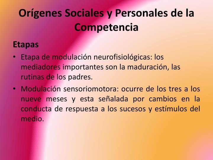 Orígenes Sociales y Personales de la Competencia