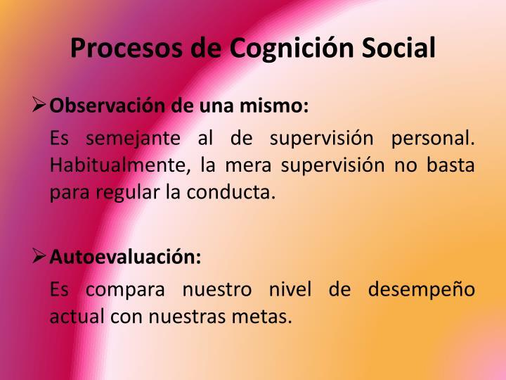 Procesos de Cognición Social