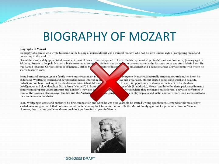 BIOGRAPHY OF MOZART