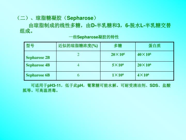 (二)、琼脂糖凝胶(