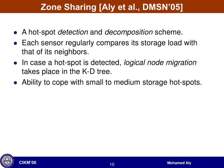 Zone Sharing [Aly et al., DMSN'05]