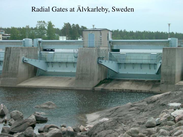Radial Gates at Älvkarleby, Sweden