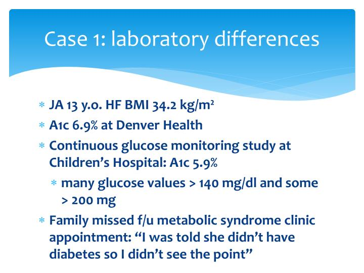 Case 1: laboratory differences