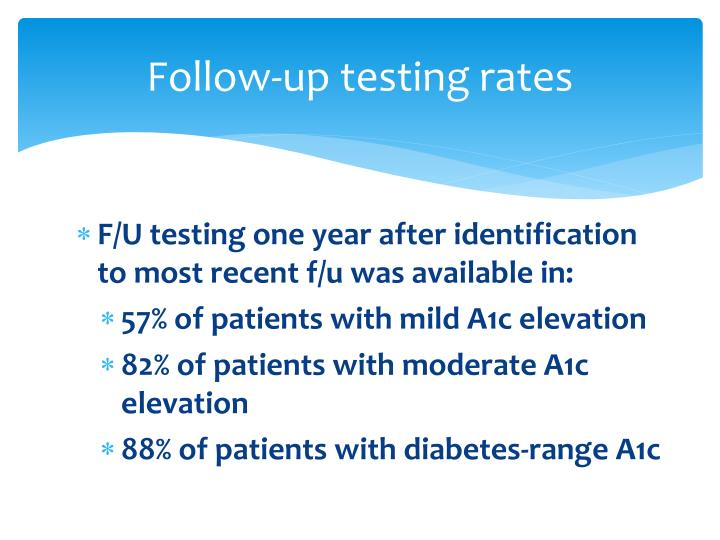 Follow-up testing rates