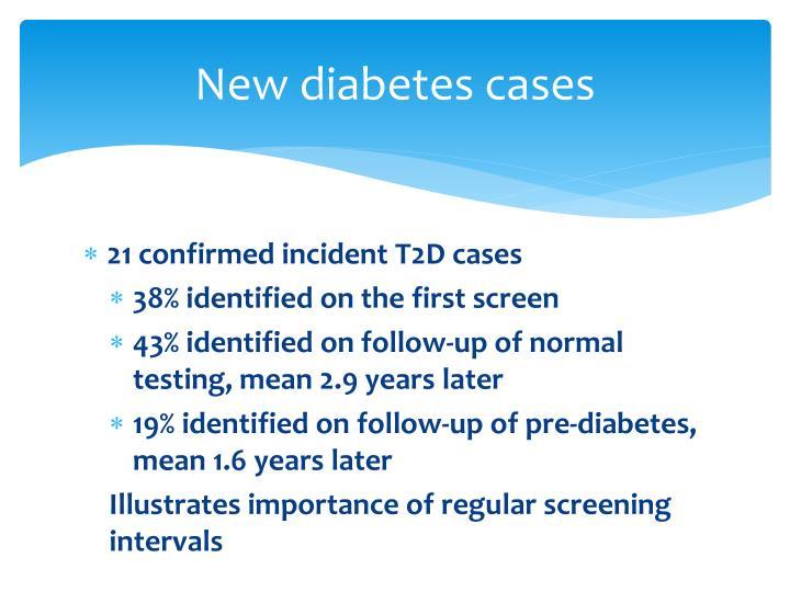 New diabetes cases