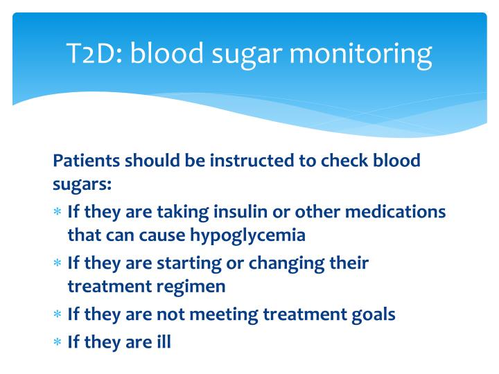 T2D: blood sugar monitoring